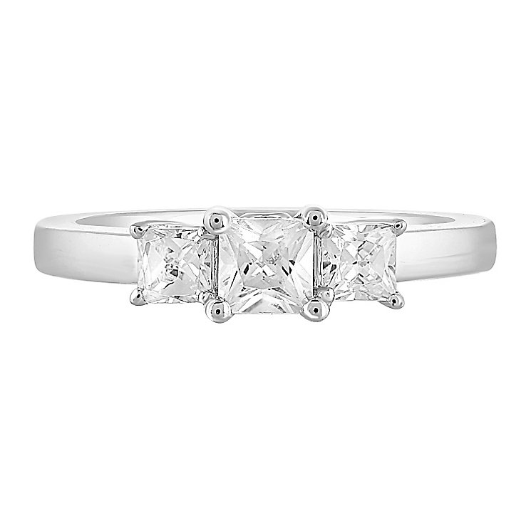 Leo Diamond 18ct White Gold 3 Stone 75pt II1 Diamond Ring - Product number 5513375