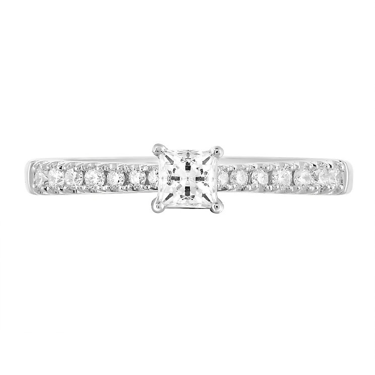 Leo Diamond 18ct White Gold 0.50ct II1 Diamond Ring - Product number 5513502
