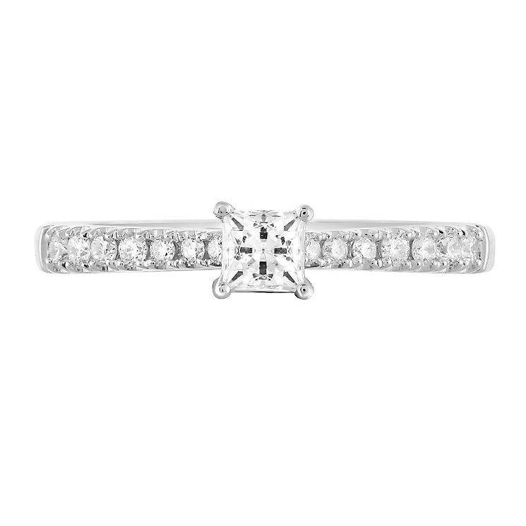 Leo Diamond 18ct White Gold 50pt II1 Diamond Ring - Product number 5513502
