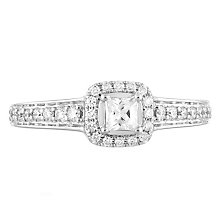 Leo Diamond 18ct White Gold 0.50ct II1 Diamond Halo Ring - Product number 5513774