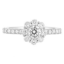 Leo Diamond 18ct White Gold 1ct II1 Diamond Cluster Ring - Product number 5514037