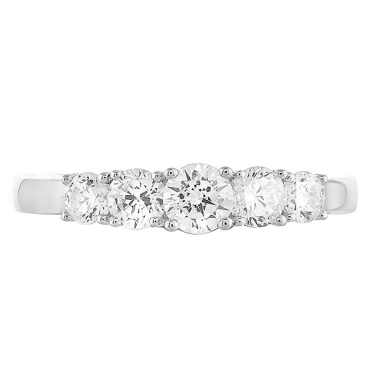 Leo Diamond 18ct White Gold 5 Stone 75pt II1 Eternity Ring - Product number 5514177
