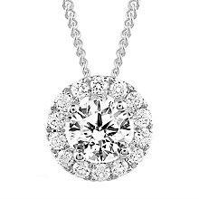 Leo Diamond 18ct White Gold 0.50ct II1 Diamond Halo Pendant - Product number 5514312