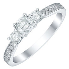 18ct White Gold 0.60ct Diamond 3 Stone Ring - Product number 5515114