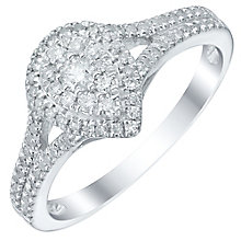 9ct White Gold 0.33ct Diamond Pear Shaped Cluster Ring - Product number 5515688
