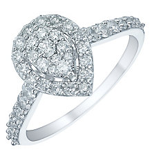 18ct White Gold 0.66ct Pear Shaped Cluster Ring - Product number 5515823
