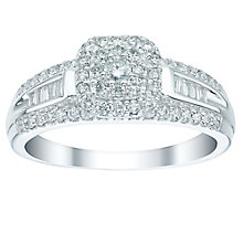 9ct White Gold 0.50ct Cushion Cut Diamond Halo Ring - Product number 5515955