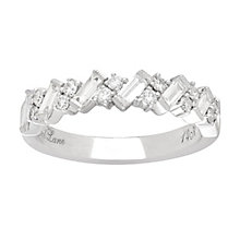 Neil Lane 14ct White Gold 69pt Diamond Diagonal Band - Product number 5519403