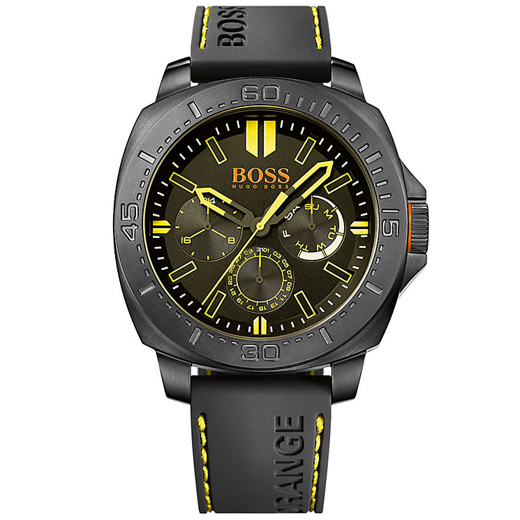 Boss Orange Gent's Black Silicon Strap Watch - Product number 5519934