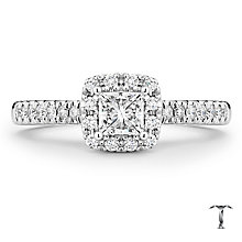 Tolkowsky 18ct White Gold 66pt Princess Cut Diamond Ring - Product number 5524059
