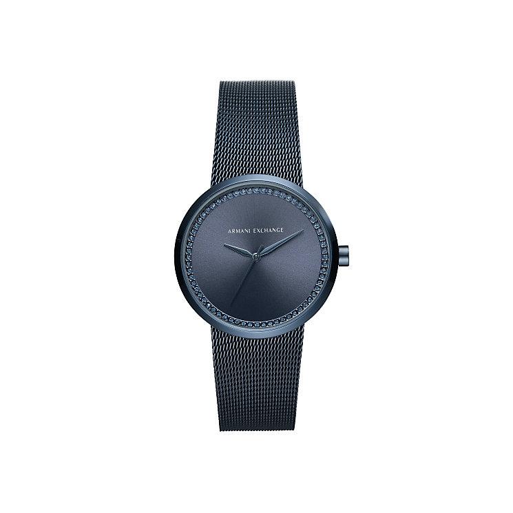 Armani Exchange Ladies' Blue Stainless Steel Bracelet Watch - Product number 5526728