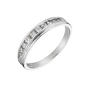 9ct White Gold 1/3 Carat 11 Stone Diamond Ring