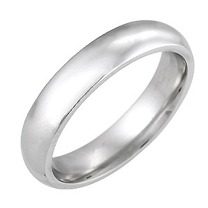 9ct White Gold Super Heavy Weight 4mm Wedding Ring