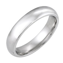 9ct White Gold 4mm Super Heavy Court Ring - Product number 5546737