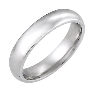 9ct White Gold Super Heavy Weight 4mm Wedding Ring - Product number 5546737