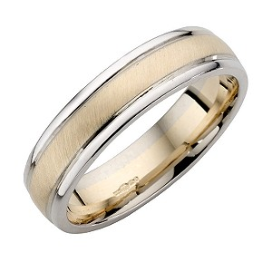 9ct Yellow And White Gold Wedding Ring