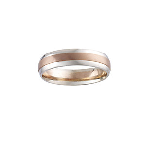 9ct Two-colour Gold Men's Ring - Product number 5546842