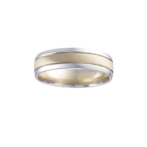Men's 9ct Two-colour Gold Ring - Product number 5546915