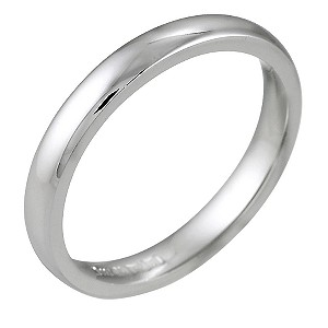 18ct White Gold Super Heavyweight Wedding 3mm Ring