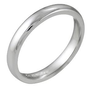 18ct White Gold Super Heavyweight Wedding 3mm Ring