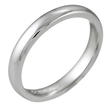 18ct White Gold 3mm Super Heavy Court Ring - Product number 5547008
