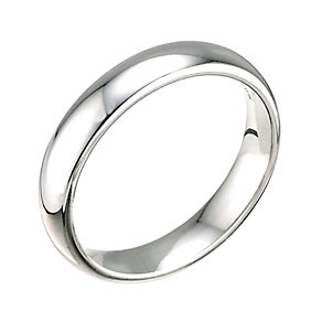 18ct White Gold Super Heavy 4mm Court Ring - Product number 5547040