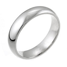 18ct White Gold Super Heavy Weight 5mm Wedding Ring - Product number 5547091