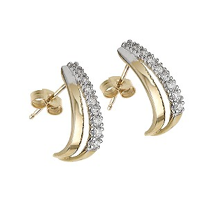 9ct Gold Cubic Zirconia Earrings - Product number 5550300