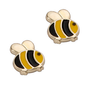 9ct Yellow Gold Children's Bumble Bee Stud Earrings - Product number 5553210
