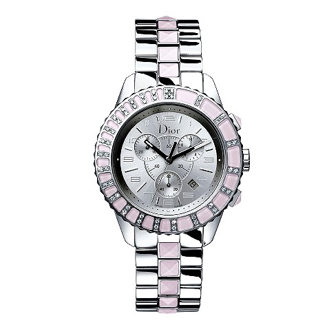 Dior Christal ladies' stainless steel diamond watch