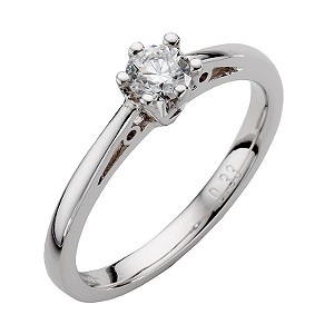 9ct White Gold Third Carat Diamond Solitaire Ring