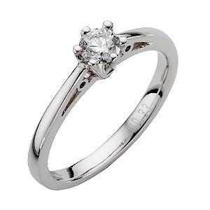 9ct White Gold Third Carat Diamond Solitaire Ring