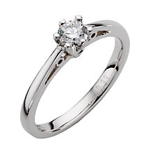 9ct White Gold Third Carat Diamond Solitaire Ring - Product number 5563089