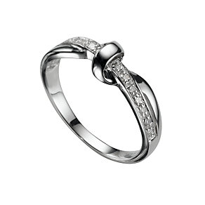 9ct White Gold Diamond Ring - Product number 5566479