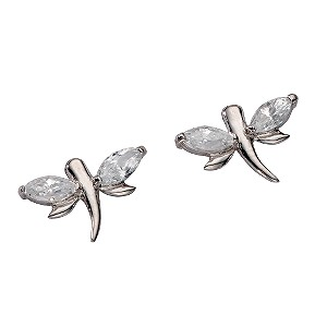 9ct white gold cubic zirconia butterfly stud earrings - Product number 5577470