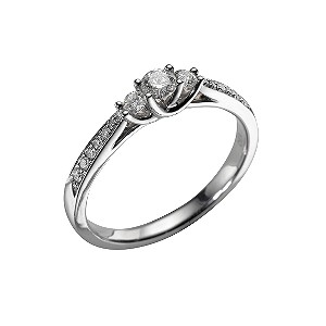 18ct white gold third carat diamond ring - Product number 5584663
