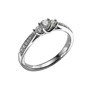 Ernest Jones Three Diamond Ring