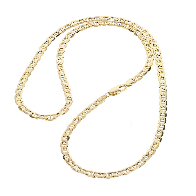 9ct Yellow Gold Figaro Anchor Chain - Product number 5588677