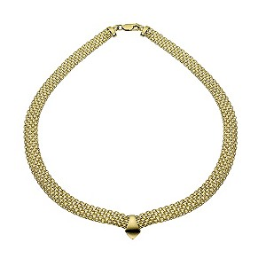 9ct Yellow Gold 17 Chain Collar Necklace