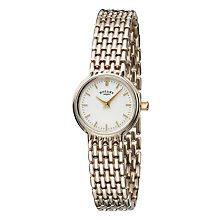 Rotary Ladies' Gold-plated Bracelet Watch with Gold Dial - Product number 5594499