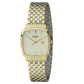 Rotary gents Windsor Cushion shaped bi-colour watch - Product number 5594855
