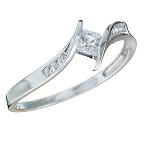 9ct White Gold Cubic Zirconia Ring - Product number 5624649