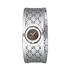 Gucci Twirl ladies' stainless steel half bangle watch - Product number 5626129