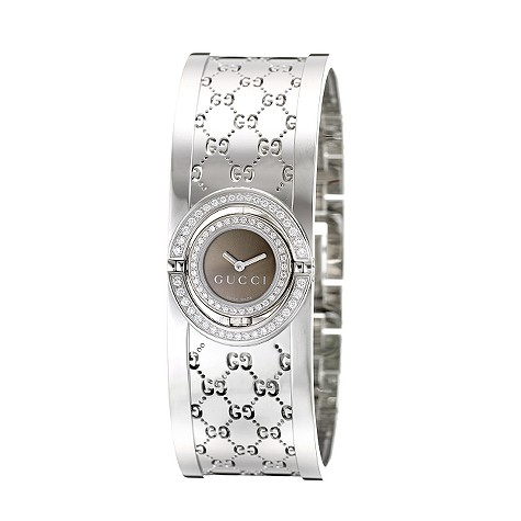 Gucci Twirl ladies' brown dial and 72 diamond watch
