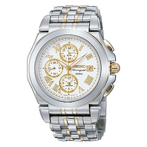 Seiko men's stainless steel chronograph watch - Product number 5630487