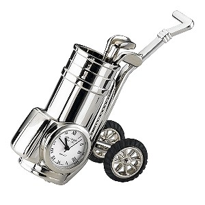 H Samuel Golf Trolley Miniature Clock