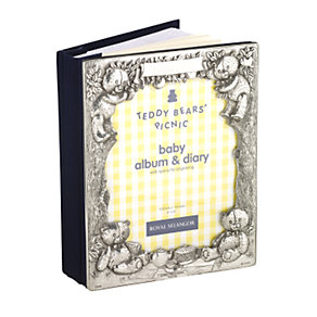 Royal Selangor pewter baby photo album and diary - Product number 5650755