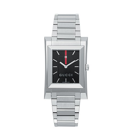 Gucci Guccio mens stainless steel bracelet watch