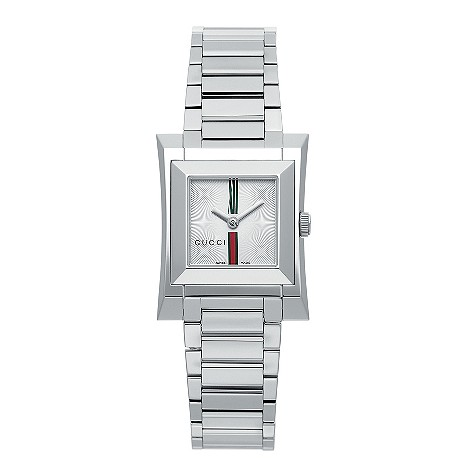 Gucci Guccio ladies' stainless steel bracelet watch