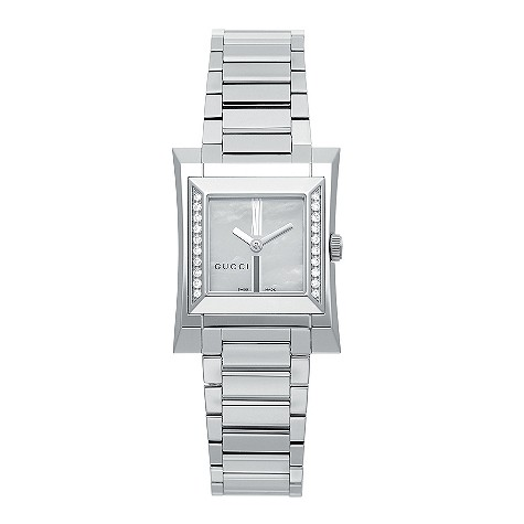 Gucci Guccio ladies' stainless steel diamond-set watch